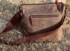Canvas Small Messenger Bag for men Vintage Shoulder Bag for men