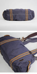 Cool Canvas Black Men 13 inches Messenger Bag Green Side Bag Travel Handbag For Men