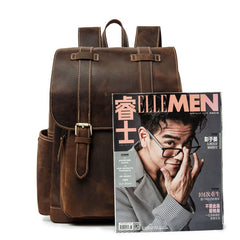 Cool Brown Mens Leather Dark Brown 14