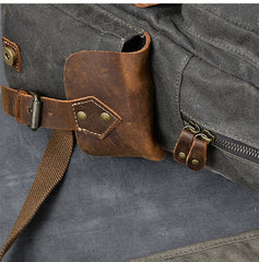 Waxed Canvas Leather Mens 15