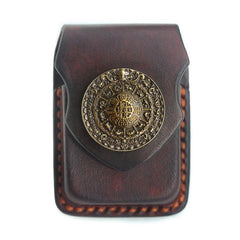 Cool Handmade Coffee Leather Mens Classic Zippo Lighter Case With Belt Loop Standard Lighter Holder for Men