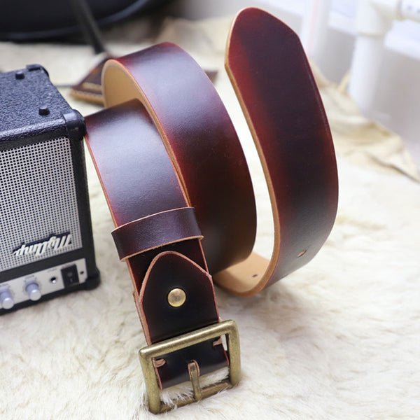 3cd33d9dc Cool Handmade Red Brown Leather Mens Belt Leather Belt for Men – iwalletsmen