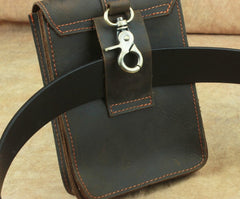 Cool Leather Cell Phone HOLSTER Belt Pouches for Men Waist Bag BELT BAG For Men