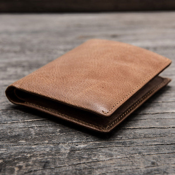 Cool Leather Men Slim Small Wallet Bifold Small Wallet for Men