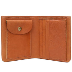 Cool Leather Men Small Wallet Bifold Small Wallet for Men