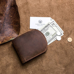 Cool Leather Men Small Wallet Bifold Vintage Wallet for Men