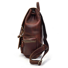 Cool Leather Mens Backpack Vintage Travel Backpack School Backpacks for Men