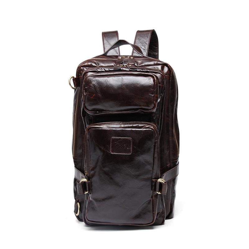 Cool Leather Mens Backpack Large Cool Vintage Large Travel Backpack Bag for Men