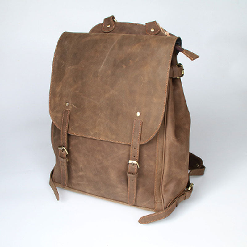 Cool Leather Mens Backpacks Travel Backpack Laptop Backpack for Men