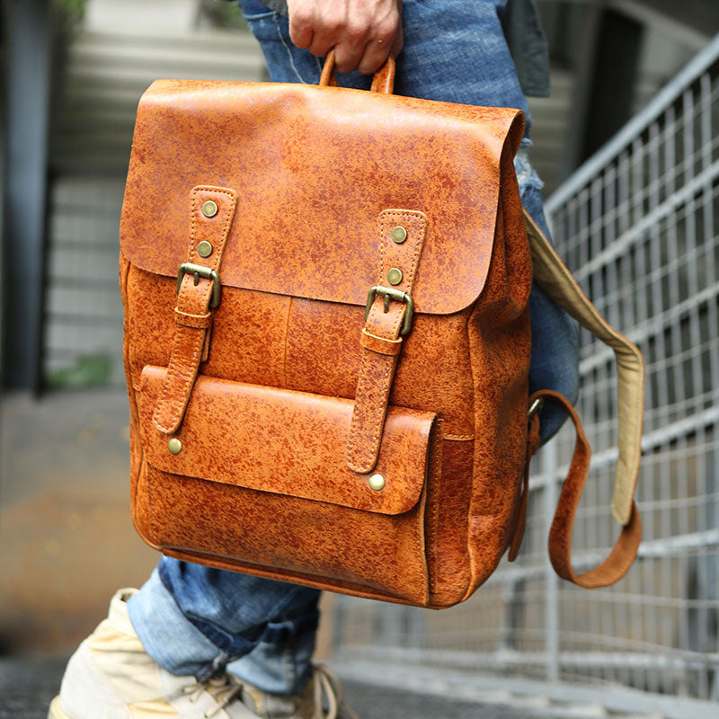 238eabd35f9 Previous. Next.  189.00 189.00. Overview:. Design  Handmade Leather Mens  Backpack Travel ...