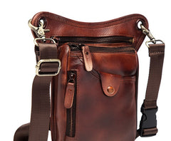 Cool Leather Mens BELT BAG Drop Leg Bag Belt Pouch Waist Bag Shoulder Bags For Men