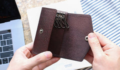 Cool Leather Mens Key Wallet Car Keys Holder Car Keys Case for Men