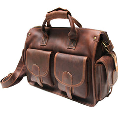 Cool Leather Mens Large Travel Bags Handbag Shoulder Bags for men
