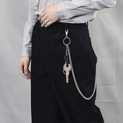 Cool Womens Mens Big Key Pants Chain Jean Chain Biker Wallet Chain For Women