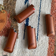 Fashion Bic Brown Leather Lighter Case Leather Bic Lighter Holder Leather Bic Lighter Covers For Men