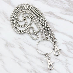 Fashion Men's Women's Silver Long Jean Pants Chain Biker Wallet Chains For Men