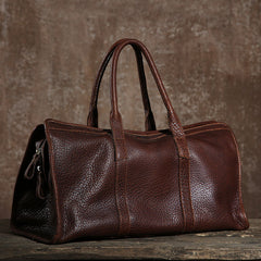 Genuine Leather Mens Large Travel Bag Cool Duffle Bag Shoulder Bag Weekender Bag for Men