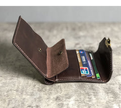 Genuine Leather Coffee Mens Cool Envelope billfold Leather Wallet Men Bifold Black Small Wallets for Men