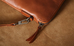 Genuine Leather Mens Clutch Cool Wallet Zipper Clutch Messenger Bag Chest Bag Wristlet Bag Wallet for Men