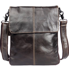 Genuine Leather Mens Cool Small Shoulder Bag Purse Messenger Bag Crossbody Bag for Men