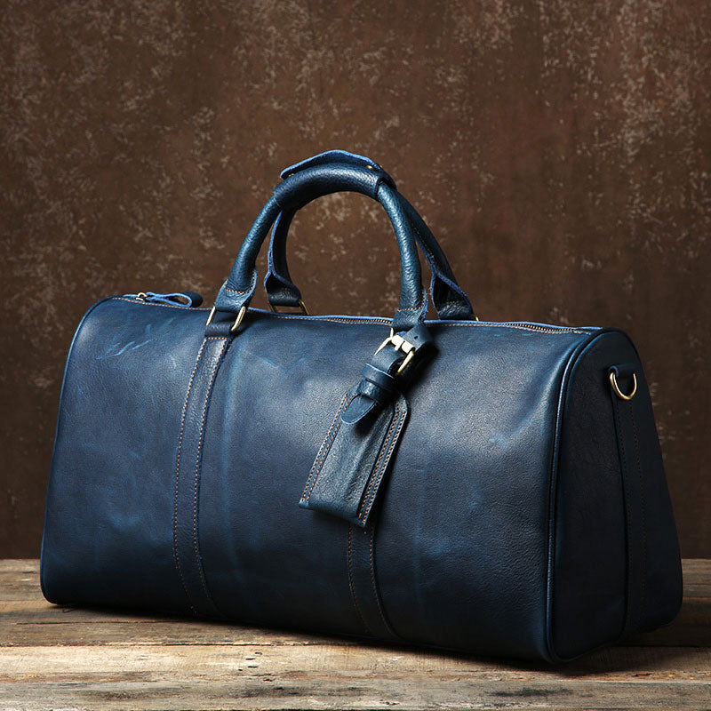 195bb919dd79 Next.  189.00 189.00. No reviews. Overview:. Design  Genuine Leather Mens  Large Blue Travel Bag Cool Duffle ...