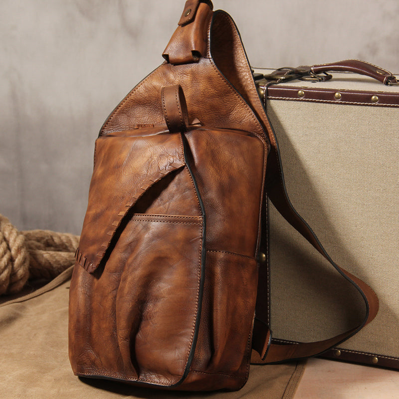 Next.  199.00 199.00. No reviews. Overview:. Design  Genuine Leather  Vintage Brown Mens Cool Sling Bag Crossbody ... 0336d744ca550
