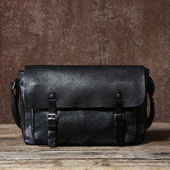 Genuine Vintage Leather Mens Cool Shoulder Bag Messenger Bag Chest Bag Bike Bag Cycling Bag for men