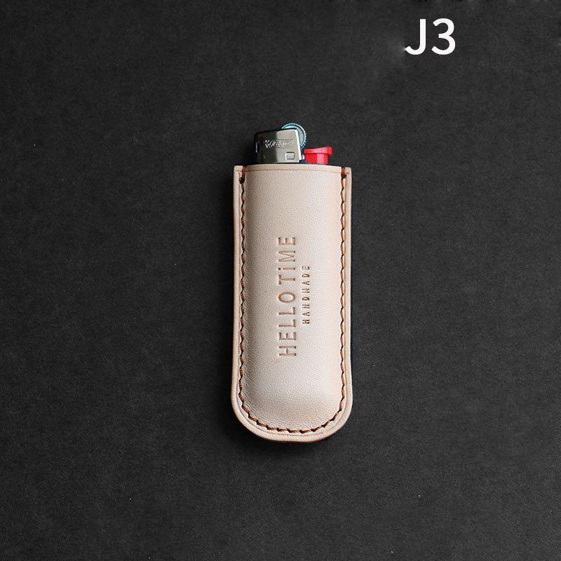 Handmade BIC J3 J5 Brown Leather Lighter Case BIC J3 J5 Leather Lighter Holder Leather Lighter Covers For Men
