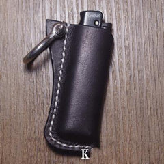 Handmade Black Bic j3 Leather Lighter Case Leather Bic j3 Lighter Holder Leather Bic j3 Lighter Covers For Men
