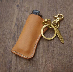 Handmade Bic j3 Leather Lighter Case Leather Bic j3 Lighter Holder Beige Leather Bic j3 Lighter Covers For Men