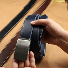 Handmade Mens Coffee Leather Belts PERSONALIZED Handmade Black Leather Belt for Men