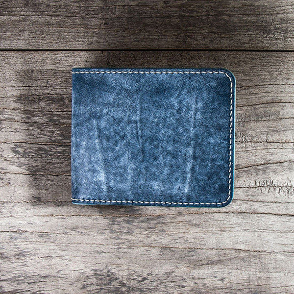 Handmade Leather Men Small Wallet Bifold Vintage Wallet for Men