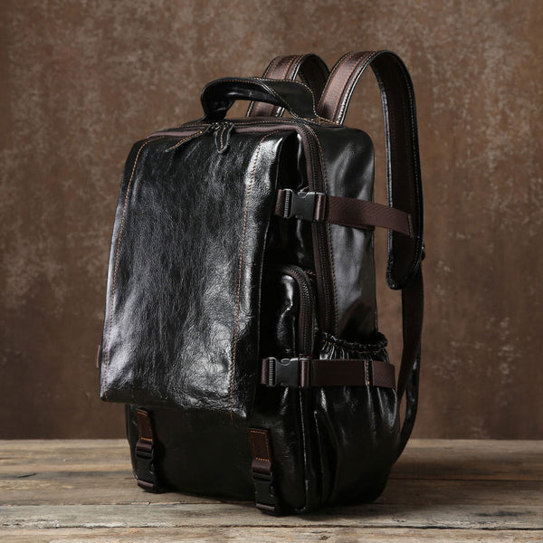 Handmade Leather Mens Cool Backpack Large Travel Bag Hiking Bag for Men