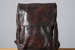 Handmade Leather Mens Cool Backpack Sling Bag Large Travel Bag Hiking Bag for Men