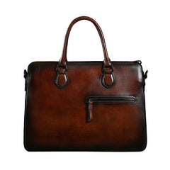 Handmade Leather Mens Cool Messenger Bag Briefcase Work Bag Business Bag Laptop Bag for men