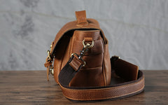 Handmade Leather Mens Cool Shoulder Bag Messenger Bag Camera Bag Cycling Bag for men