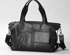 Handmade Leather Mens Handbag Cool Messenger Bag Shoulder Bag Weekender Bag for Men