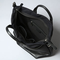 Handmade Leather Mens Tote Bag Cool Messenger Bag Tote Bag Handbag Shoulder Bag for men