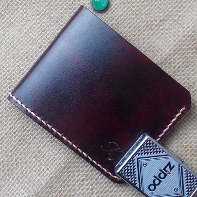Handmade Vintage Leather Mens Slim Small Wallet Leather