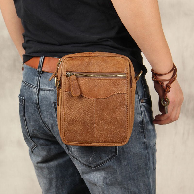 e2c303651efd Next. $109.00$109.00. No reviews. Overview: Design: Leather Belt Pouch Mens  Small Cases Waist Bag Hip Pack ...