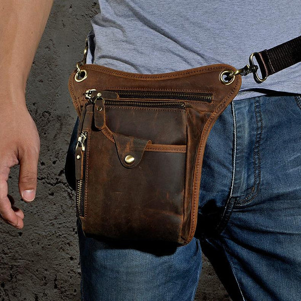 Leather Mens Belt Pouches Cell Phone Holsters Waist Bag BELT BAGs Shoulder Bag For Men
