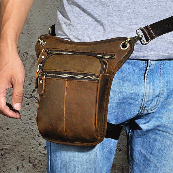 Leather Belt Pouch for men Waist Bag BELT BAG Shoulder Bags Cell Phone Holsters For Men
