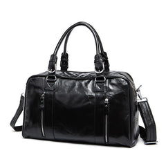 Cool Leather Men Large Travel Bag Business Weekender Bags For Men