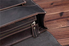 Leather Vintage Mens Briefcase Lawyer Briefcase Laptop Briefcase Business Briefcase For Men