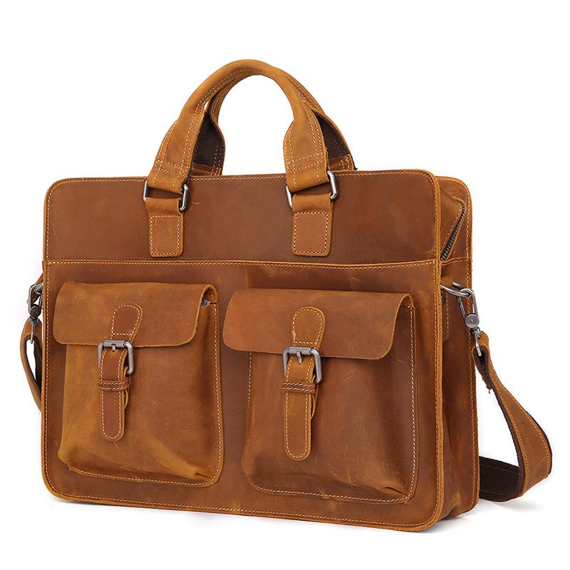 827e41465d3b Leather Vintage Mens Briefcase Lawyer Briefcases Laptop Briefcase ...