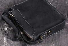 Cool Leather Men Vintage Coffee Messenger Bag Shoulder Bags for Men