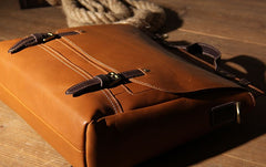 Leather Mens Black Tan Briefcase Shoulder Bag Handbag Messenger Bag Business Bag for Men