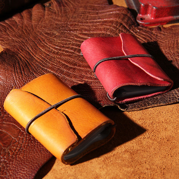 Leather Mens Card Wallet Small Card Wallet for Women