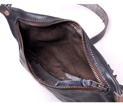 Leather Mens Cool Sling Bag Crossbody Bag Chest Bag for men