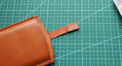 Leather Mens Slim Card Wallet Front Pocket Wallet Small Change Wallets for Men